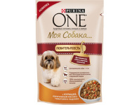 Purina ONE МояСобака пауч 100гр д/с Любитель Есть Кура/Рис/Томат